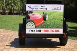 express lawn mowing trailer