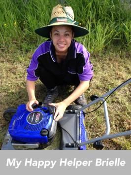 lady mower