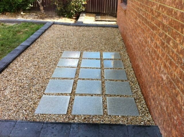 paving concrete edging mowing