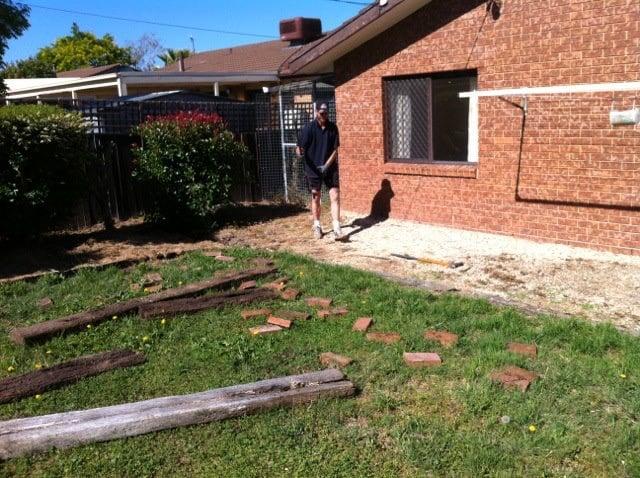 paving concrete edging mowing