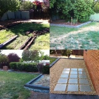 paving garden edging lawn