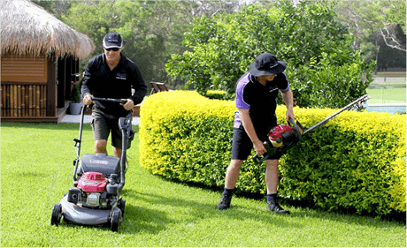 two lawn express lawn mowing franchisees