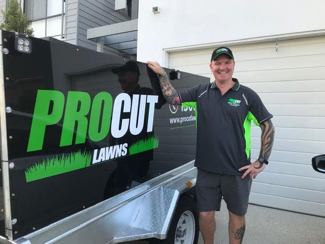 Mark Rennie pro cut lawn mowing operator