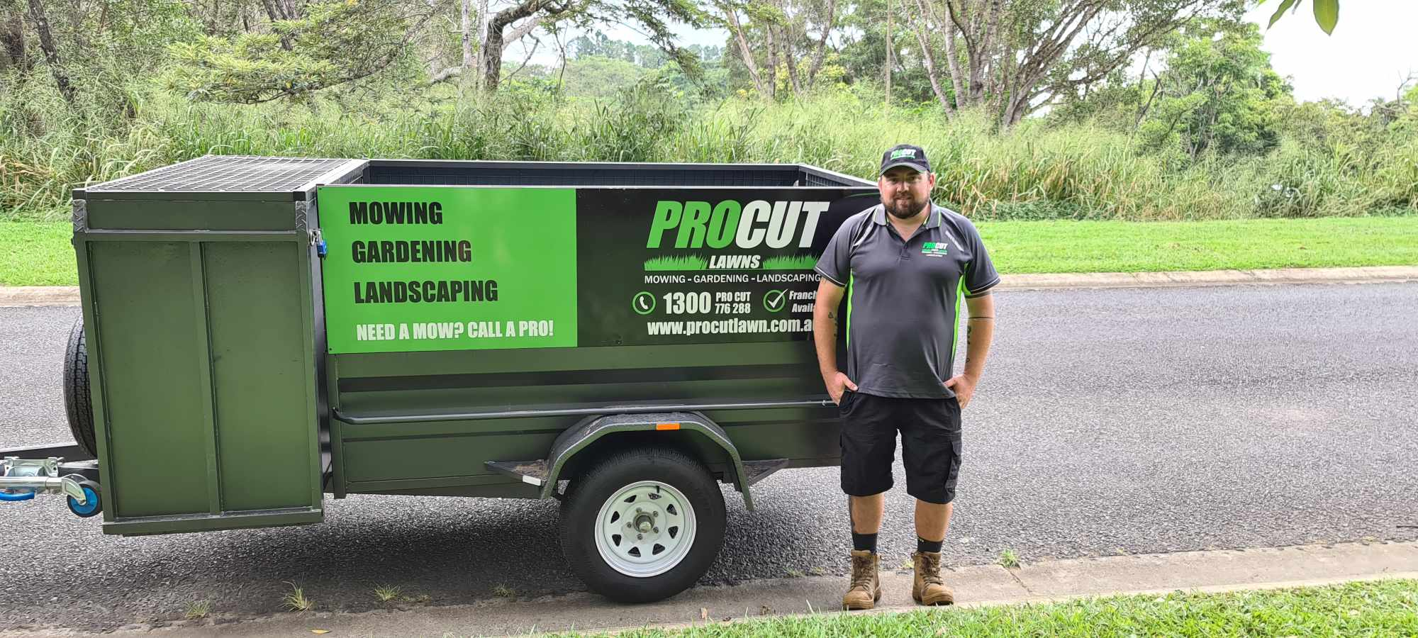 Alex from pro cut lawns cairns and trailer
